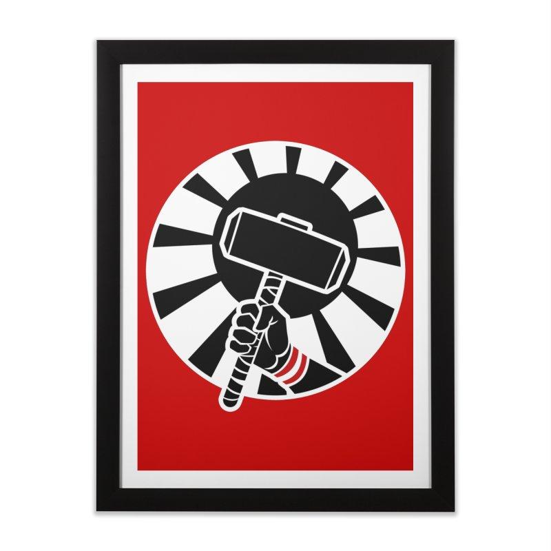 Beware my Aesir Power! - Negative Edition Home Framed Fine Art Print by rubioric's Artist Shop