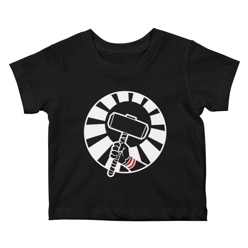 Beware my Aesir Power! - Negative Edition Kids Baby T-Shirt by rubioric's Artist Shop