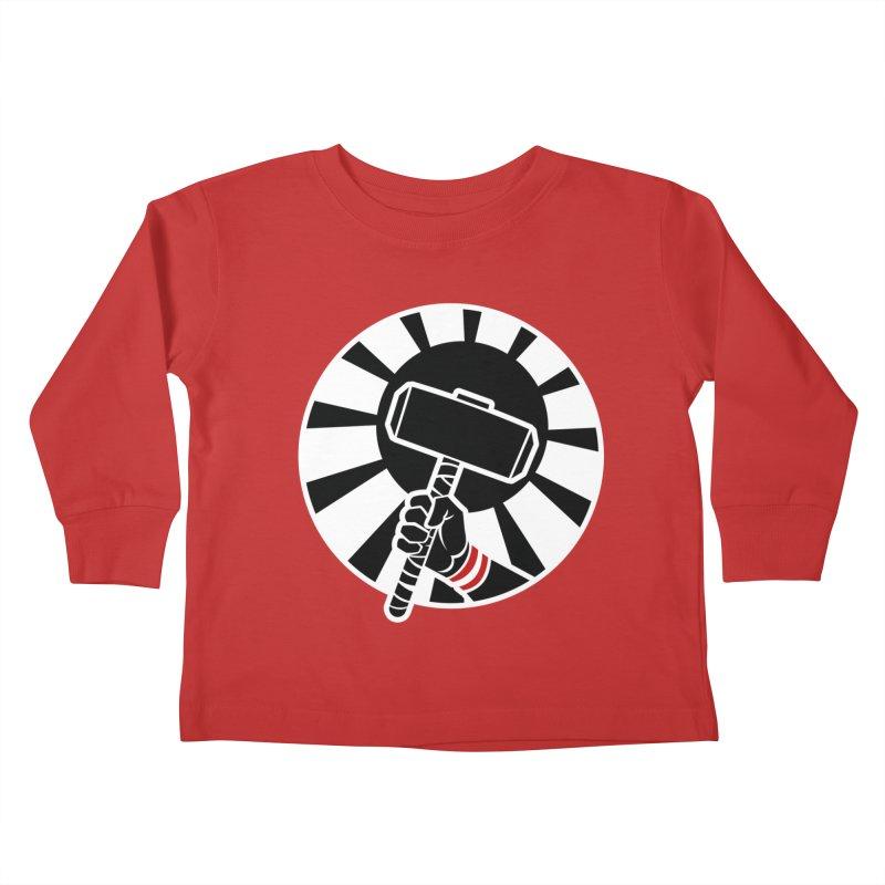 Beware my Aesir Power! - Negative Edition Kids Toddler Longsleeve T-Shirt by rubioric's Artist Shop