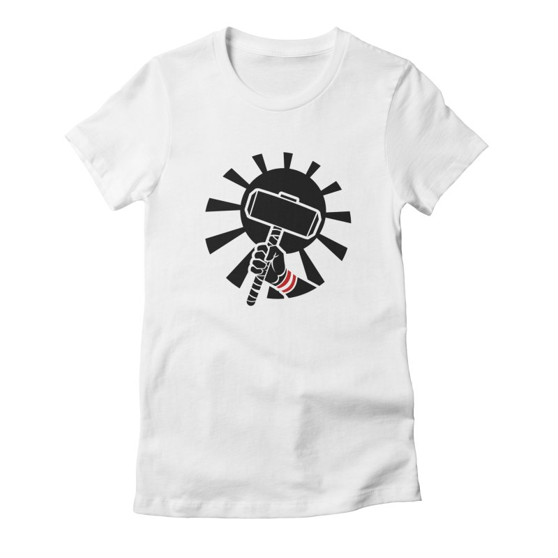 Beware my Aesir Power! - Negative Edition Women's Fitted T-Shirt by rubioric's Artist Shop