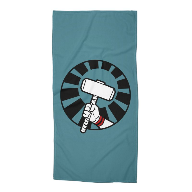 Beware my Aesir Power - Crystal Edition Accessories Beach Towel by rubioric's Artist Shop