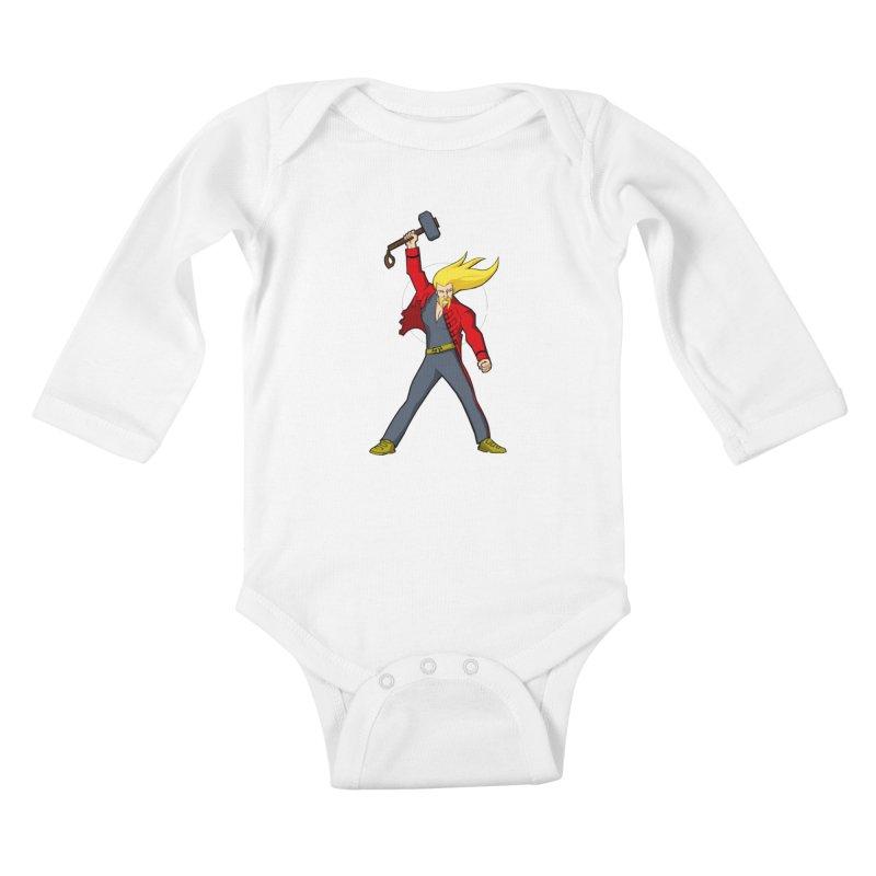 Hammer 2 Fall Kids Baby Longsleeve Bodysuit by rubioric's Artist Shop