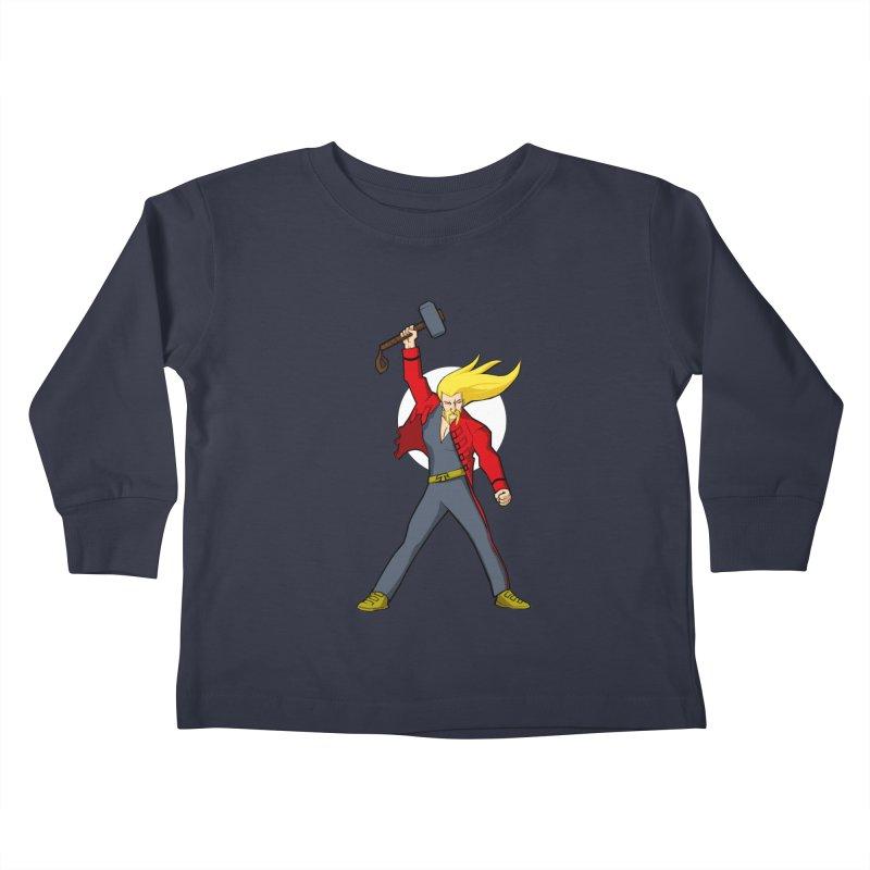 Hammer 2 Fall Kids Toddler Longsleeve T-Shirt by rubioric's Artist Shop