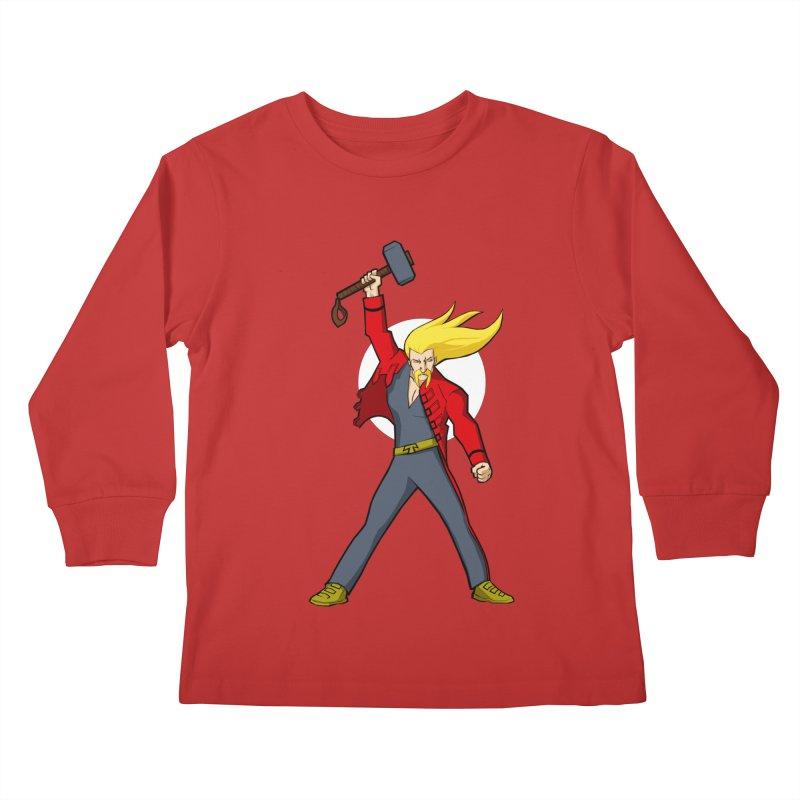 Hammer 2 Fall Kids Longsleeve T-Shirt by rubioric's Artist Shop
