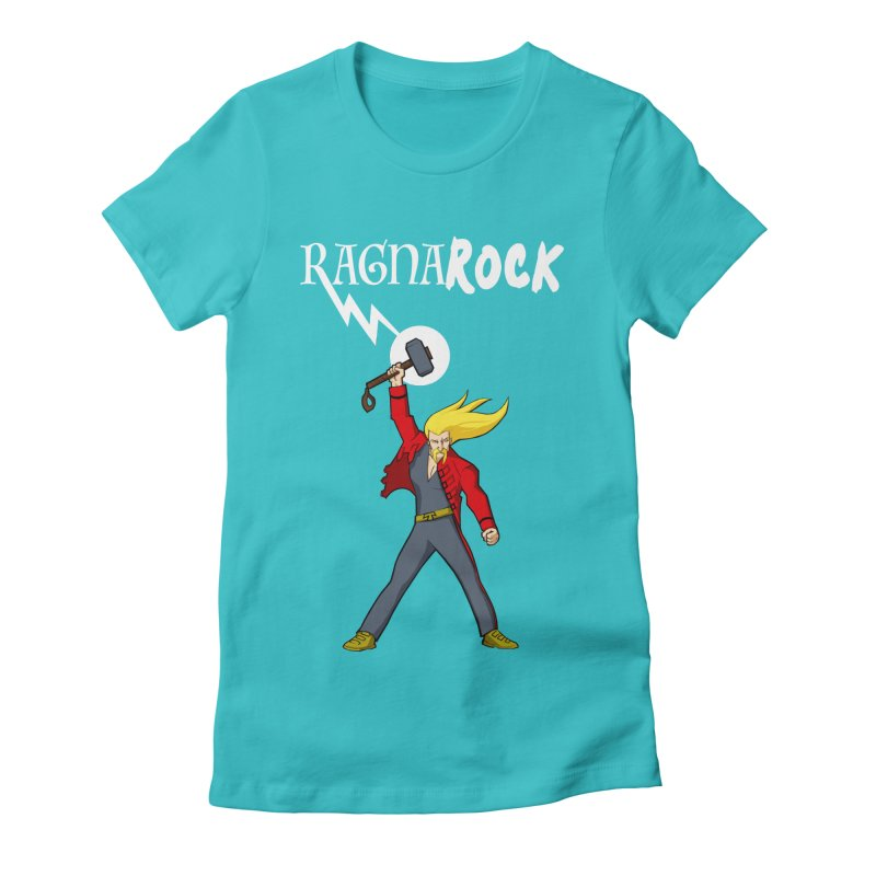 Ragnarock! Women's Fitted T-Shirt by rubioric's Artist Shop