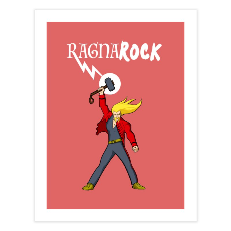 Ragnarock! Home Fine Art Print by rubioric's Artist Shop