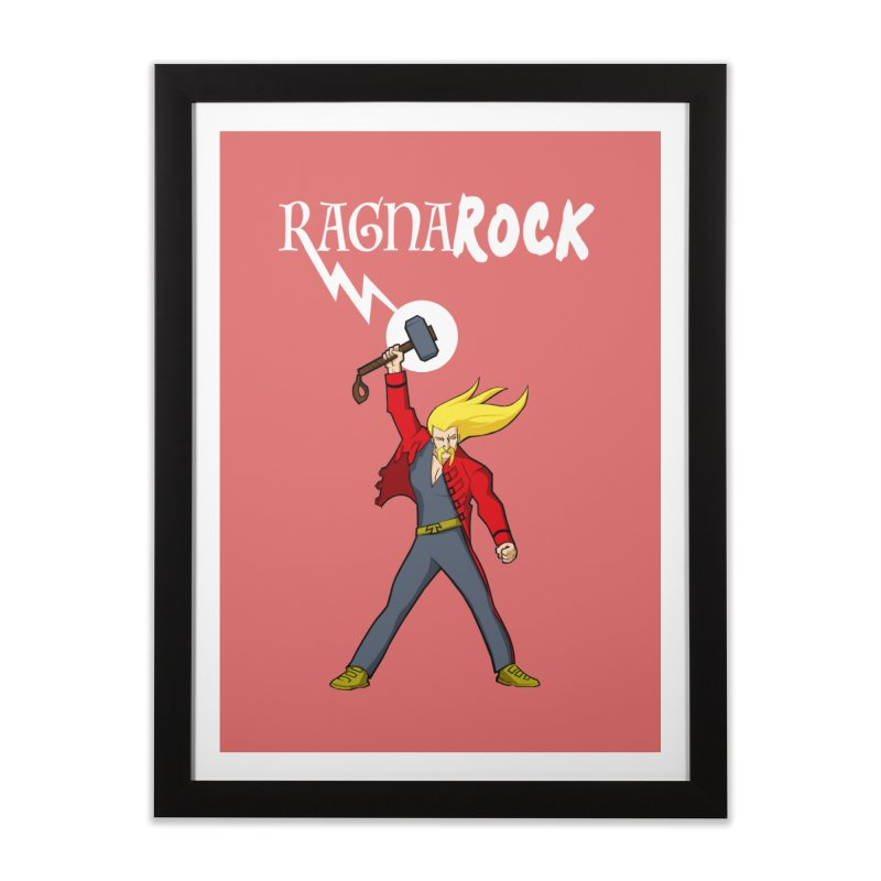 Ragnarock! Home Framed Fine Art Print by rubioric's Artist Shop