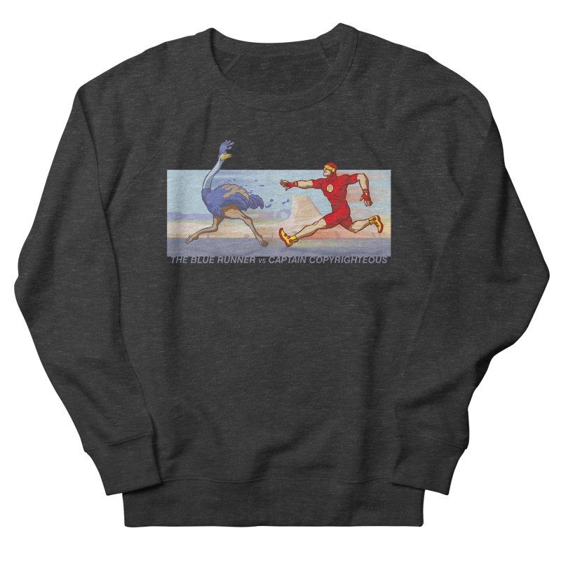 Blue Runner vs Captain Copyrighteous Women's Sweatshirt by rubioric's Artist Shop