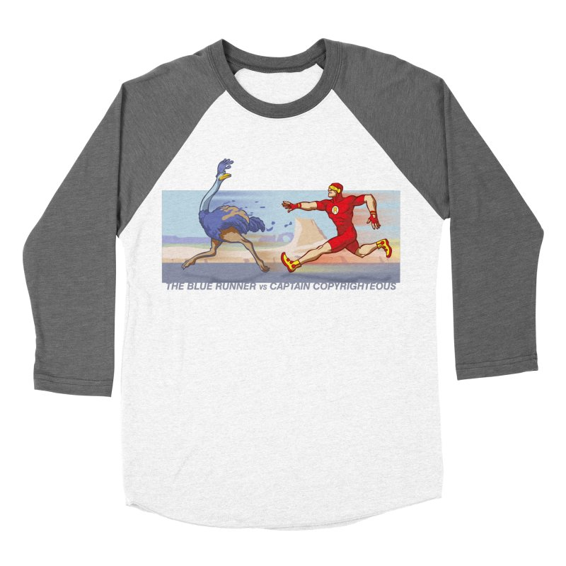 Blue Runner vs Captain Copyrighteous Women's Baseball Triblend T-Shirt by rubioric's Artist Shop