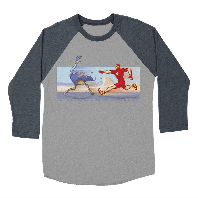 Blue Runner vs Captain Copyrighteous Men's Baseball Triblend T-Shirt by rubioric's Artist Shop