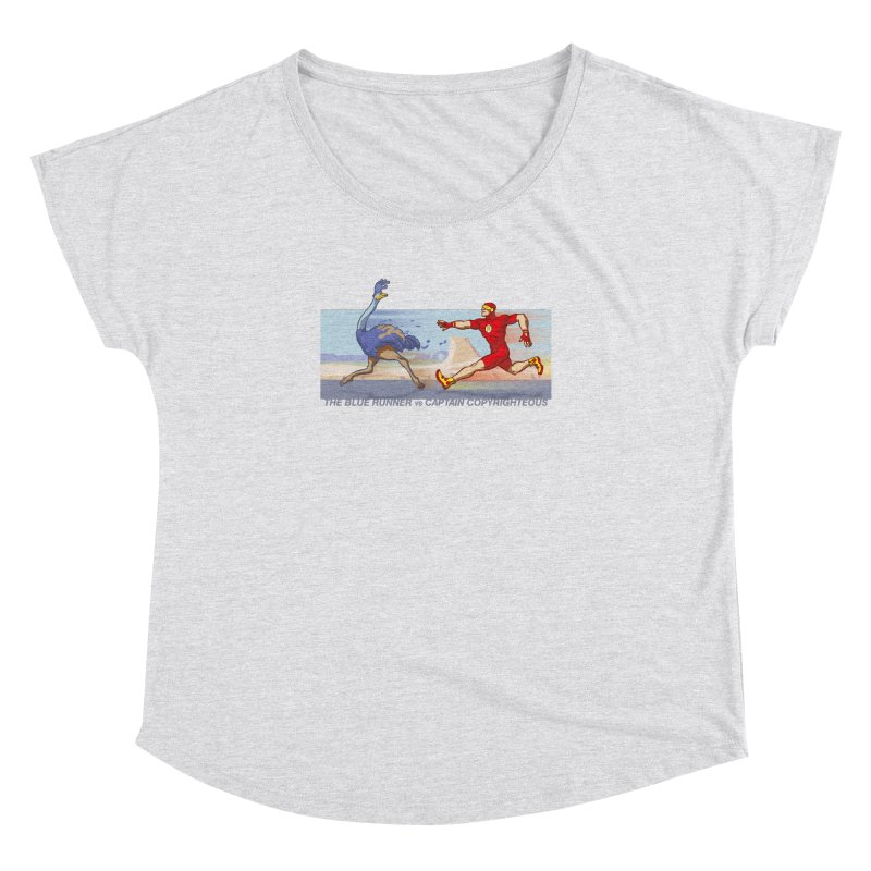 Blue Runner vs Captain Copyrighteous Women's Dolman by rubioric's Artist Shop