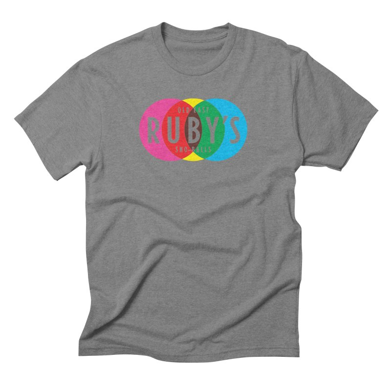 Ruby's Full Color Logo in Men's Triblend T-Shirt Grey Triblend by Ruby's Sno-balls Merch