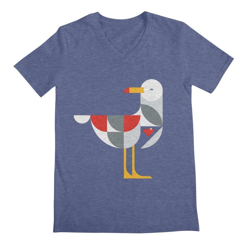 Ruby Gull Men's V-Neck by Ruby Threads