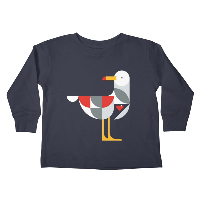 Ruby Gull Kids Toddler Longsleeve T-Shirt by Ruby Threads