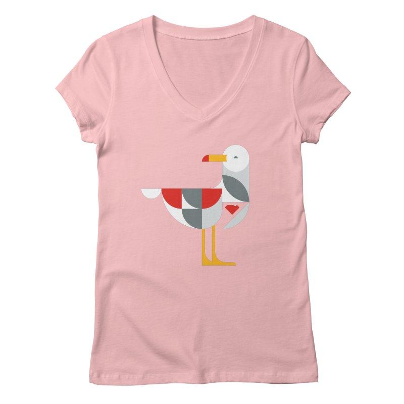 Ruby Gull Women's V-Neck by Ruby Threads