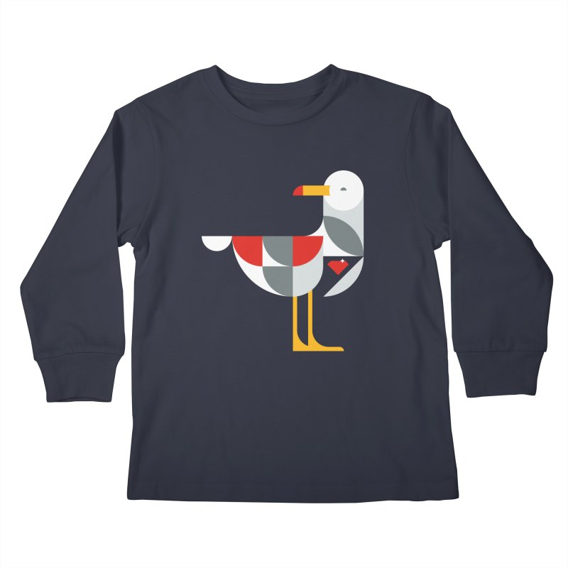 Ruby Gull Kids Longsleeve T-Shirt by Ruby Threads