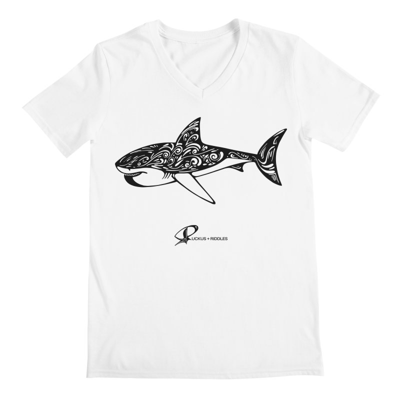 Shark 2020 Men's V-Neck by Ruckus + Riddles