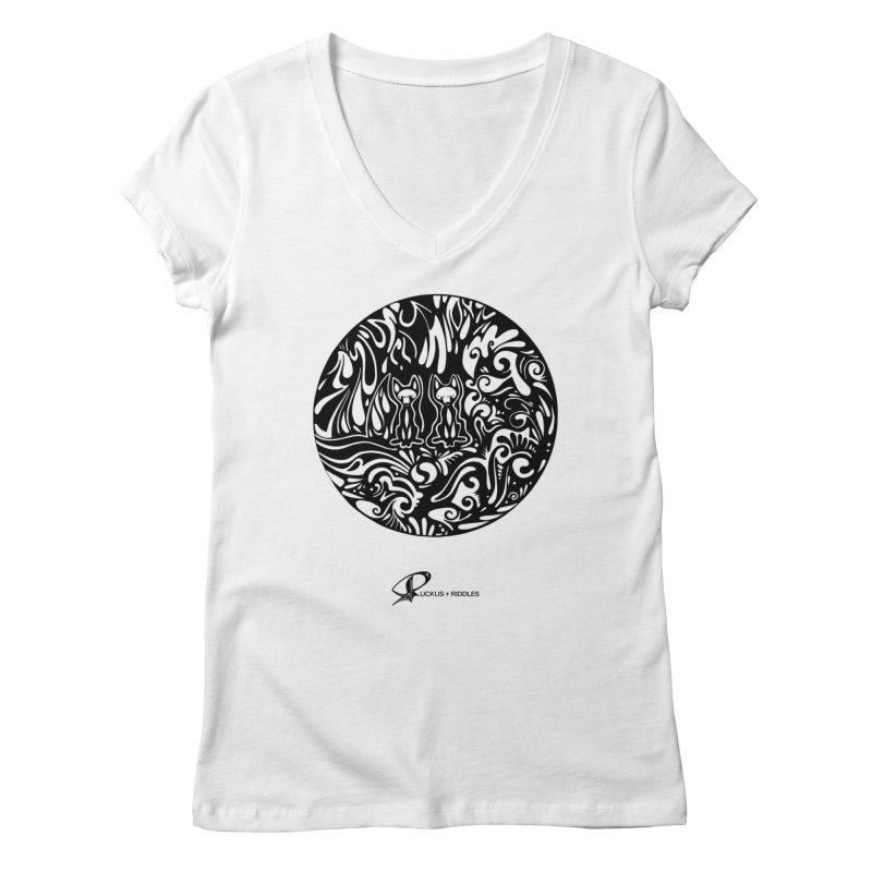 Foxes 2020 Women's V-Neck by Ruckus + Riddles