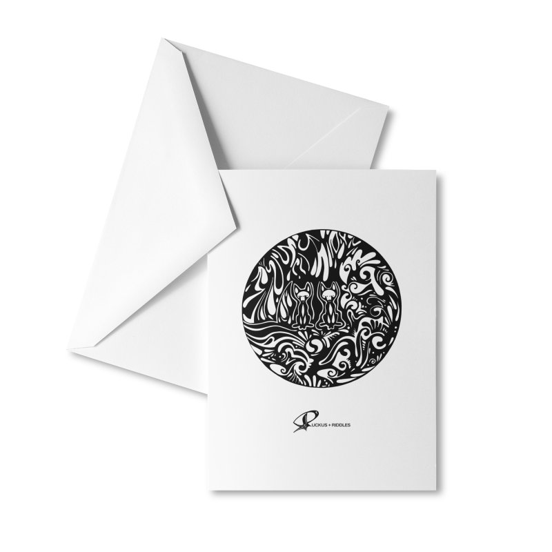 Foxes 2020 Accessories Greeting Card by Ruckus + Riddles
