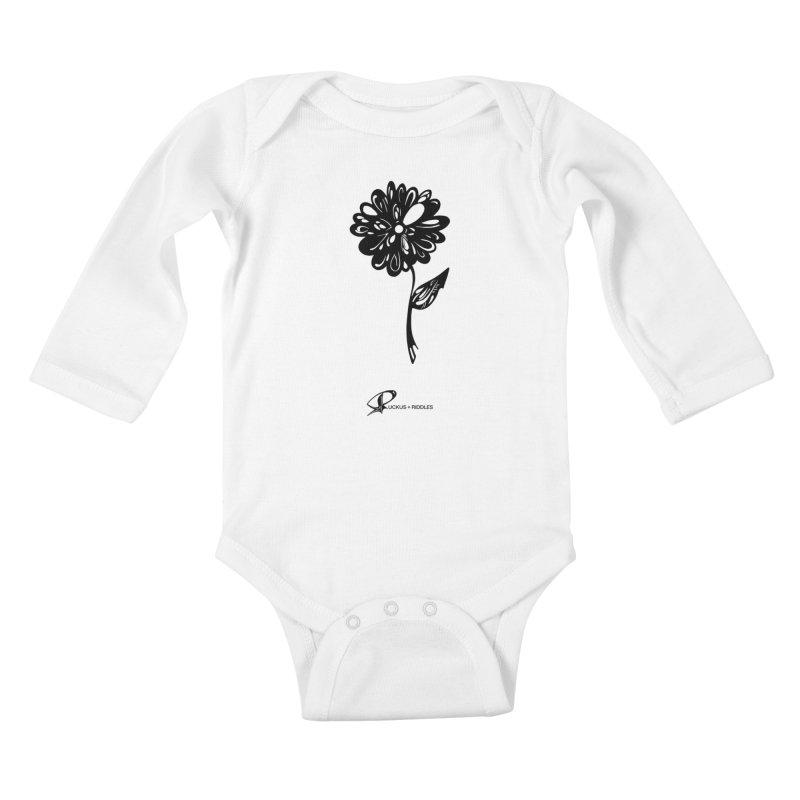 Flower D 2020 Kids Baby Longsleeve Bodysuit by Ruckus + Riddles