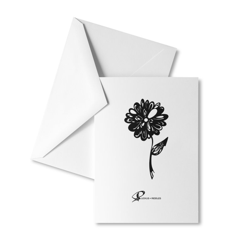 Flower D 2020 Accessories Greeting Card by Ruckus + Riddles