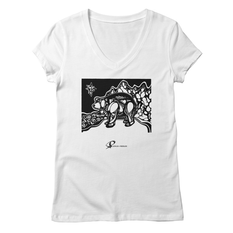 Bear 2020 Women's V-Neck by Ruckus + Riddles