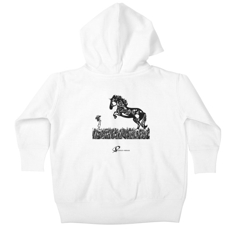 Girl and Horse 2020 Kids Baby Zip-Up Hoody by Ruckus + Riddles