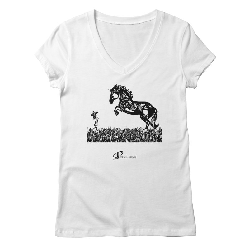 Girl and Horse 2020 Women's V-Neck by Ruckus + Riddles
