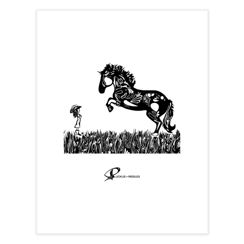 Girl and Horse 2020 Home Fine Art Print by Ruckus + Riddles