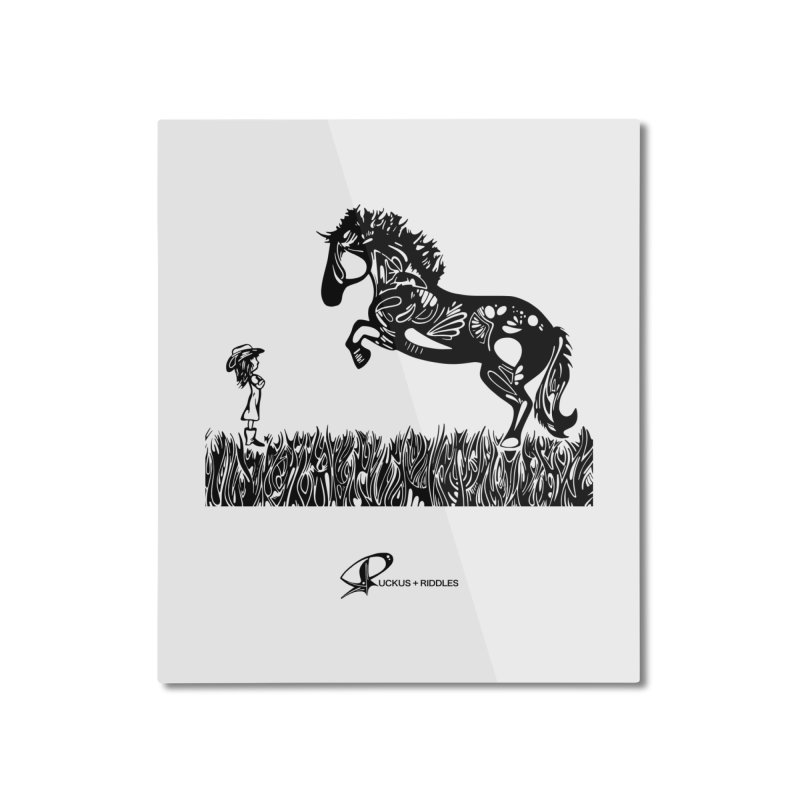 Girl and Horse 2020 Home Mounted Aluminum Print by Ruckus + Riddles