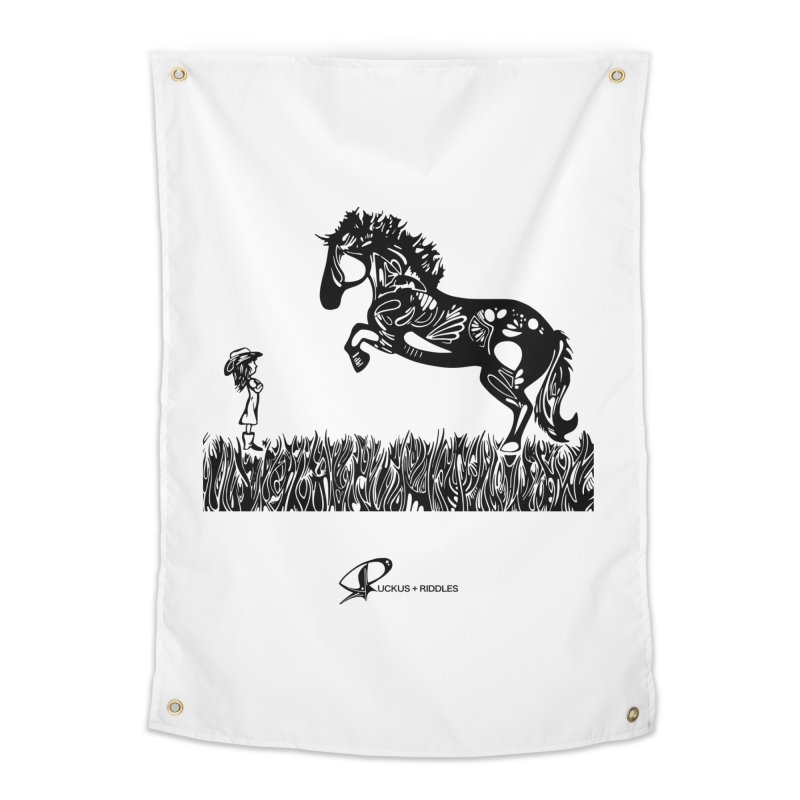 Girl and Horse 2020 Home Tapestry by Ruckus + Riddles