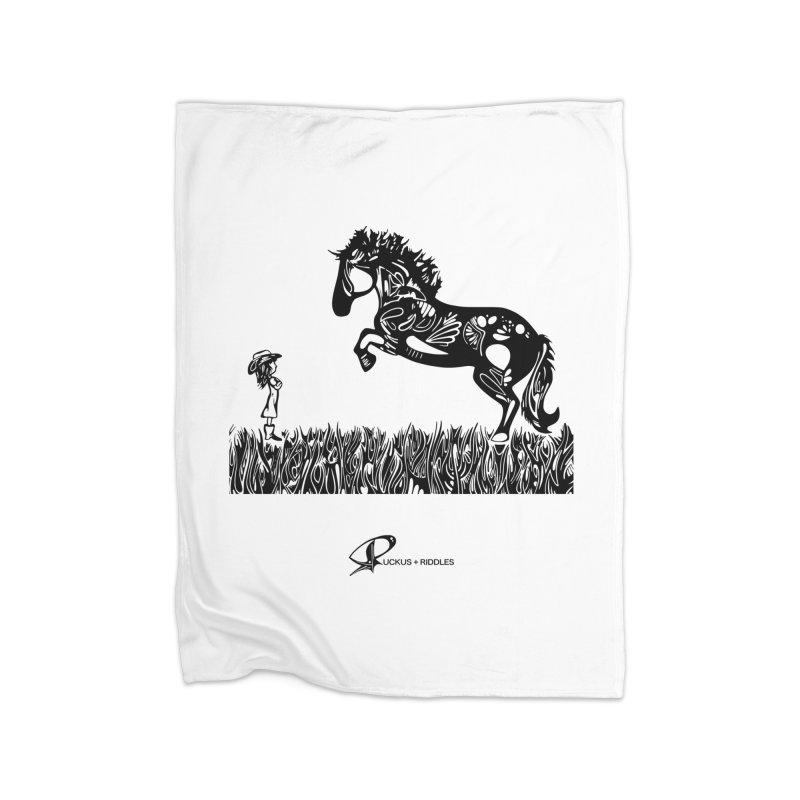 Girl and Horse 2020 Home Blanket by Ruckus + Riddles