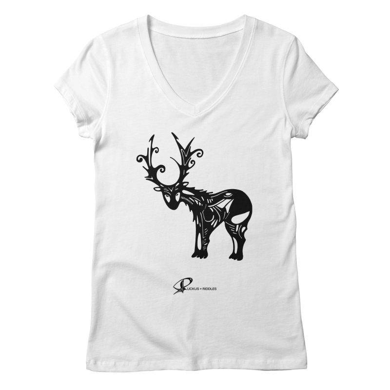 Reindeer 2020 Women's V-Neck by Ruckus + Riddles
