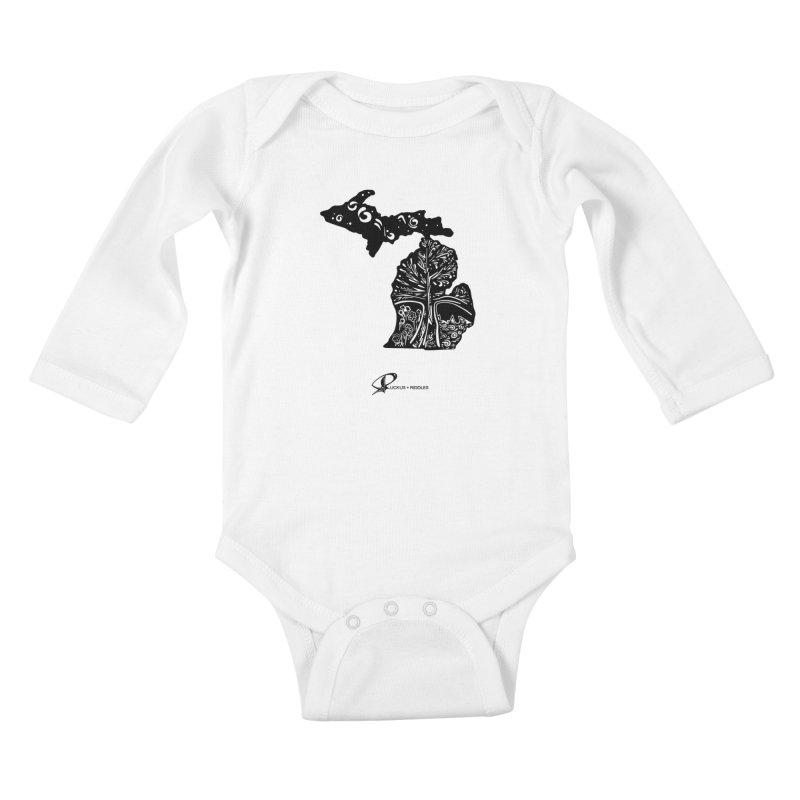 Michigan A 2021 Kids Baby Longsleeve Bodysuit by Ruckus + Riddles