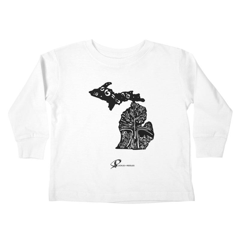 Michigan A 2021 Kids Toddler Longsleeve T-Shirt by Ruckus + Riddles
