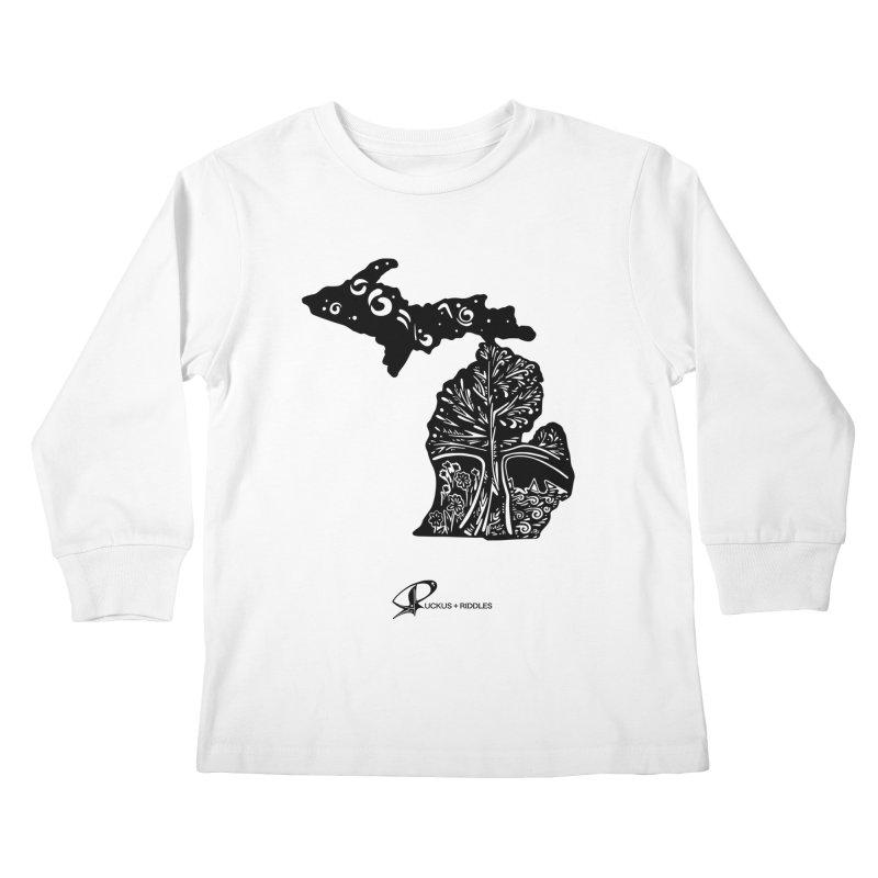 Michigan A 2021 Kids Longsleeve T-Shirt by Ruckus + Riddles