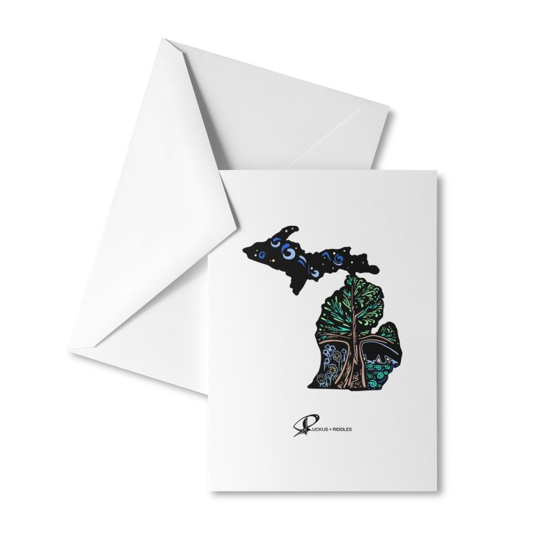Michigan B 2021 Accessories Greeting Card by Ruckus + Riddles