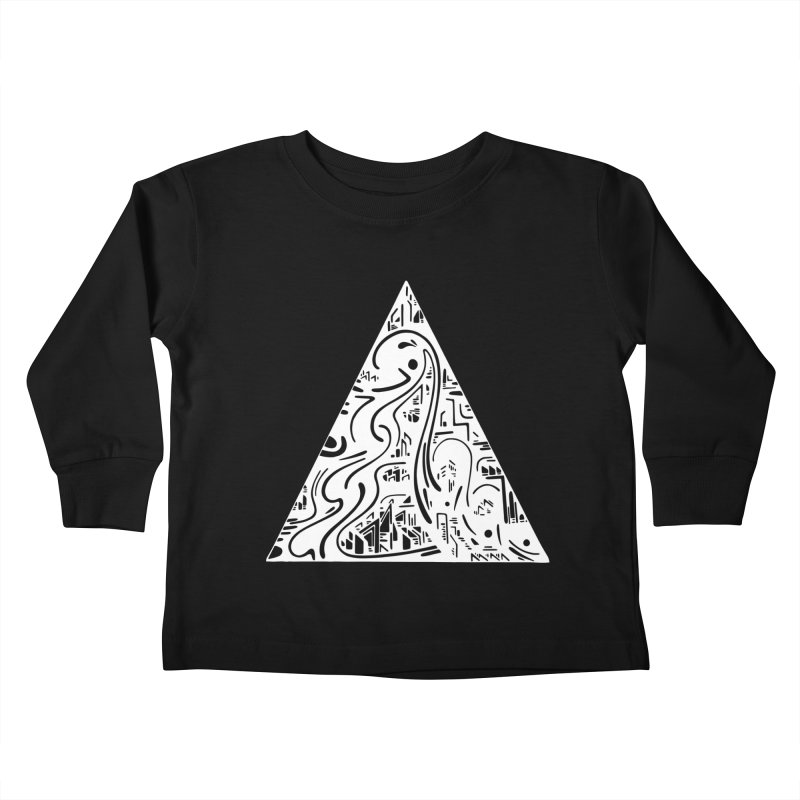 Triangle City 2021 Kids Toddler Longsleeve T-Shirt by Ruckus + Riddles
