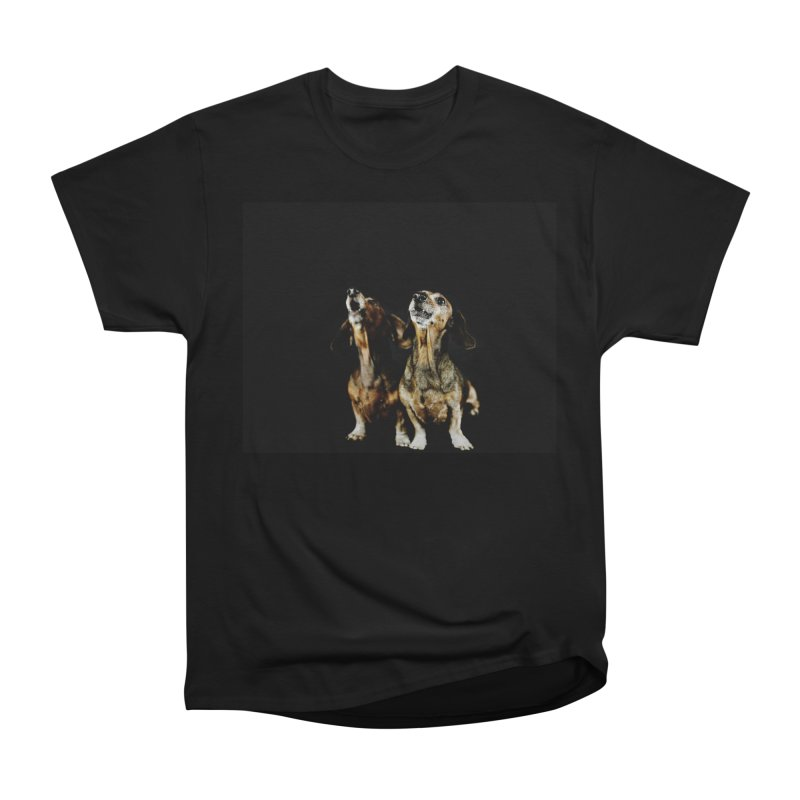 Howling Hounds Women's Heavyweight Unisex T-Shirt by rufusontheweb's Artist Shop