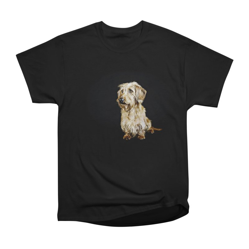 Wirehair dachshund Women's Heavyweight Unisex T-Shirt by rufusontheweb's Artist Shop