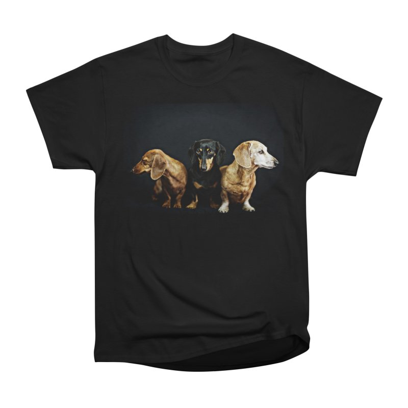 Rufus, Emily & Lily Women's Heavyweight Unisex T-Shirt by rufusontheweb's Artist Shop