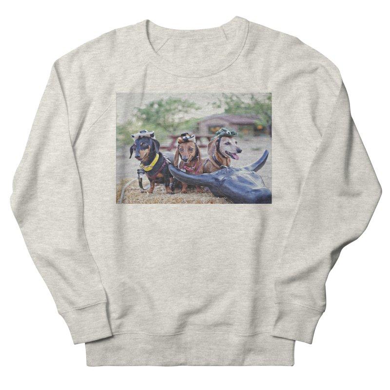 Dachshund cowboys Women's French Terry Sweatshirt by rufusontheweb's Artist Shop