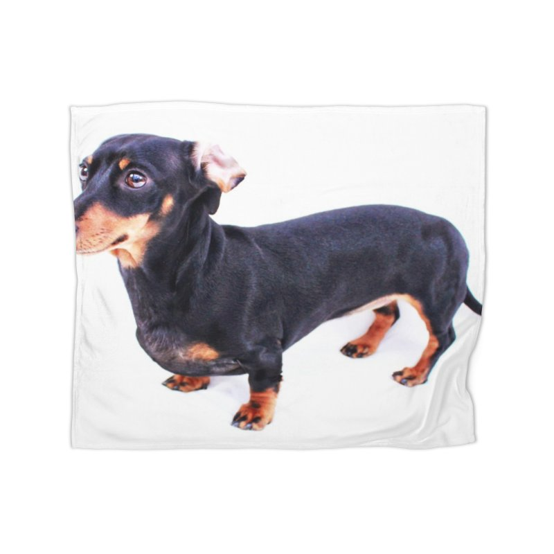 Black and Tan Ear Flip Home Fleece Blanket Blanket by rufusontheweb's Artist Shop