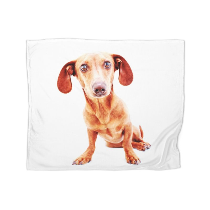 Smooth dachshund Home Fleece Blanket Blanket by rufusontheweb's Artist Shop
