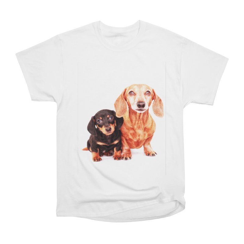 Puppy love Women's Heavyweight Unisex T-Shirt by rufusontheweb's Artist Shop