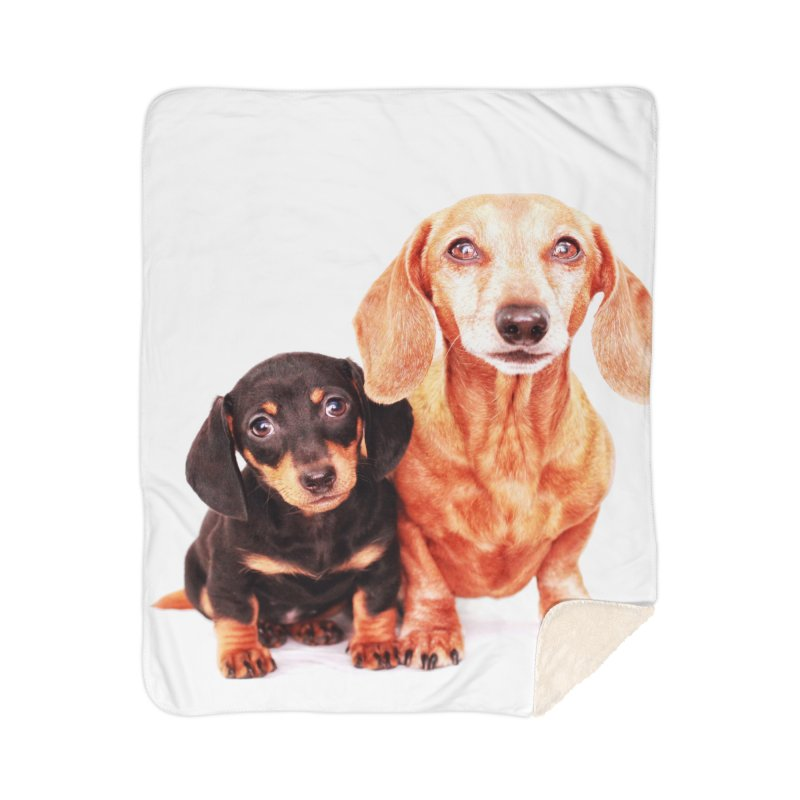 Puppy love Home Sherpa Blanket Blanket by rufusontheweb's Artist Shop