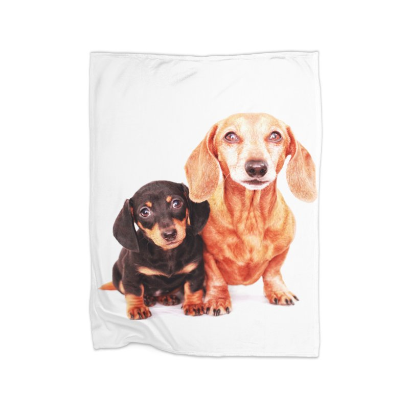 Puppy love Home Fleece Blanket Blanket by rufusontheweb's Artist Shop