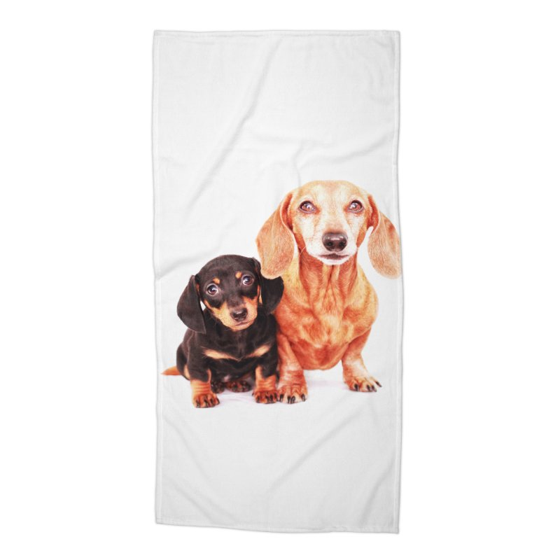 Puppy love Accessories Beach Towel by rufusontheweb's Artist Shop