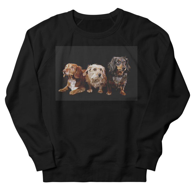 Longhair dachshunds Men's French Terry Sweatshirt by rufusontheweb's Artist Shop