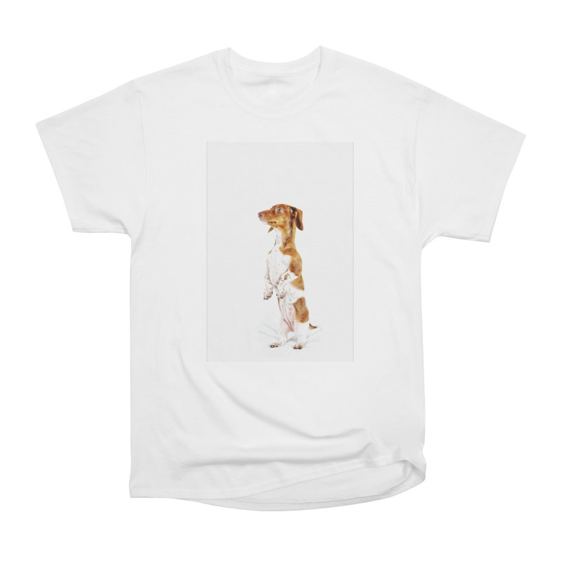 Piebald Dachshund Men's T-Shirt by rufusontheweb's Artist Shop